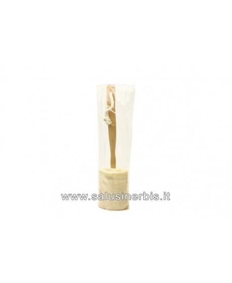 Loofah (Luffa) Grezza cilindrica con manico