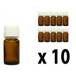 Flacone in vetro scuro 5 ml con goccimetro 10 pz