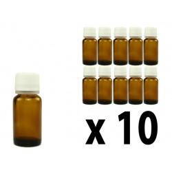 Flacone in vetro scuro 10 ml con goccimetro - 10 pz