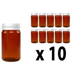 Flacone in plastica scura 100 ml - 10 pz